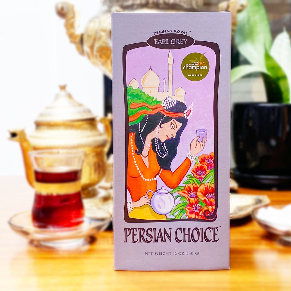 Persian Choice Tea made from Ceylon leaves and cold-pressed bergomat oil