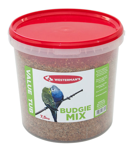 Budgie Mix - Value Tub - 7.5kg - Woofworths Premium Online Pet Supplies