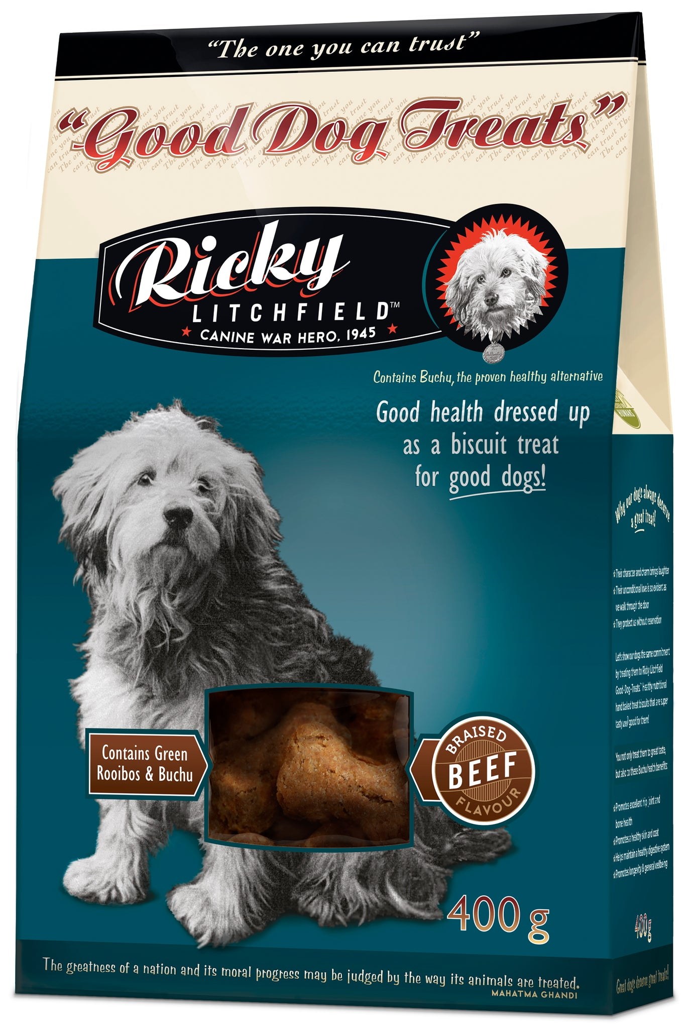 Ricky Litchfield - Good Dog Treats with Buchu - Braised Beef (450g)