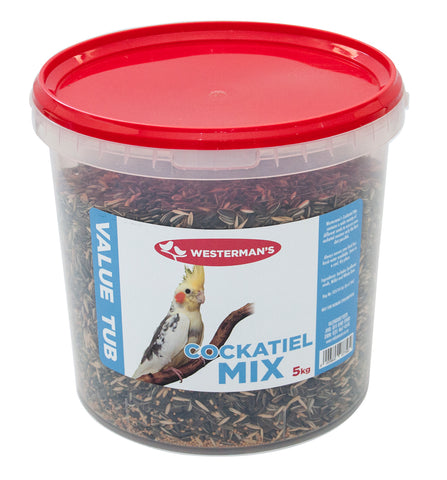 Cockatiel Mix - Value Tub - 5kg - Woofworths Premium Online Pet Supplies