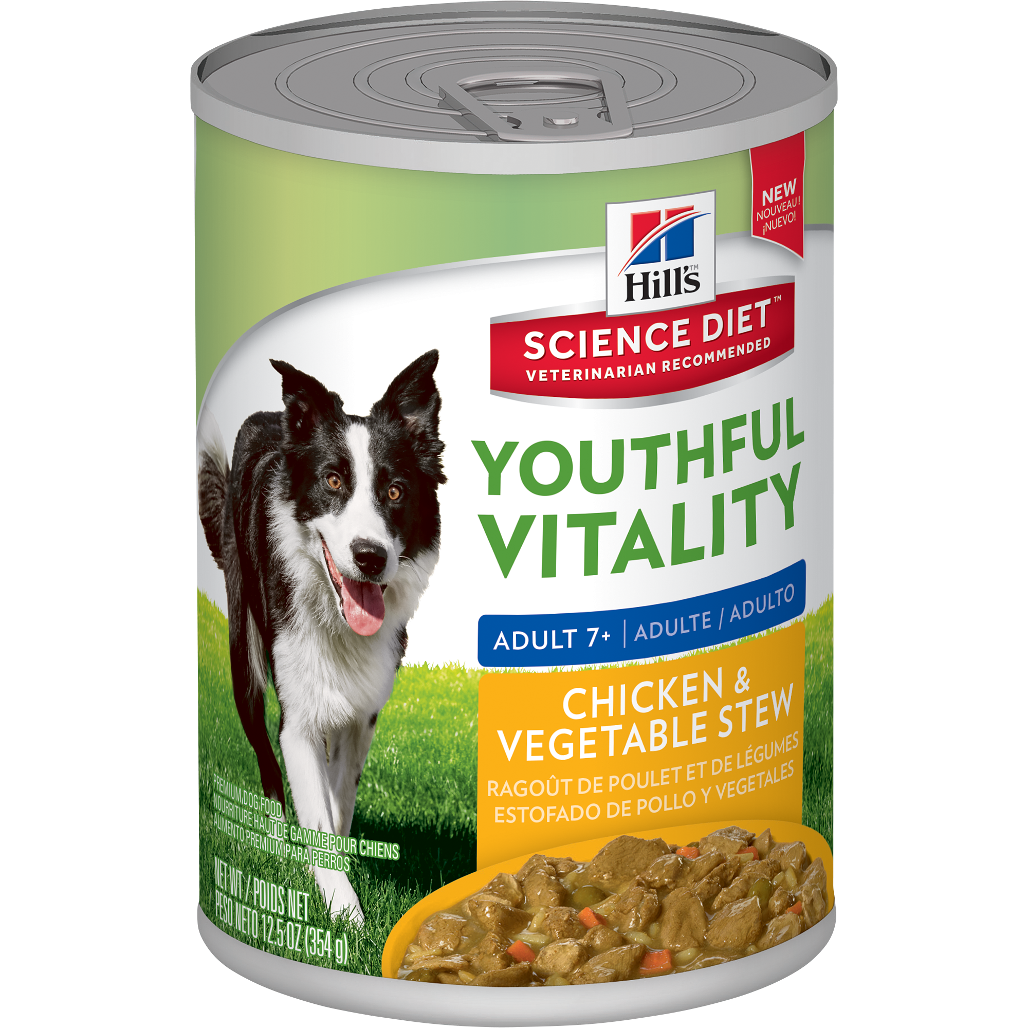 Hill's® Science Diet® Youthful Vitality - Chicken & Vegetables (354g) - Woofworths Premium Online Pet Supplies