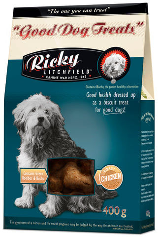 Ricky Litchfield - Good Dog Treats with Buchu - Roast Chicken (450g)