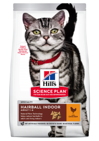 Hills Science Plan- Feline - Dry Food - Adult - Hairball - Chicken - Woofworths Premium Online Pet Supplies