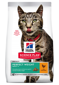 Hills Science Plan- Feline - Dry Food - Adult- Perfect Weight -Chicken - Woofworths Premium Online Pet Supplies