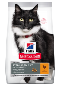 Hills Science Plan- Feline - Dry Food -Mature Adult - Sterilised - Chicken 3kg - Woofworths Premium Online Pet Supplies