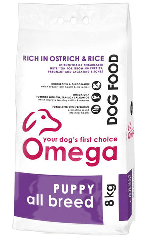 Omega - Puppy - All Breed - 8kg - Woofworths Premium Online Pet Supplies