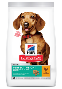 Hill's™ Science Plan™ Canine Adult Perfect Weight (Small & Mini Breed) with Chicken - Woofworths Premium Online Pet Supplies