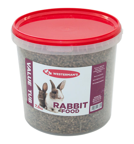 Rabbit Food - Value tub - 7.5kg - Woofworths Premium Online Pet Supplies