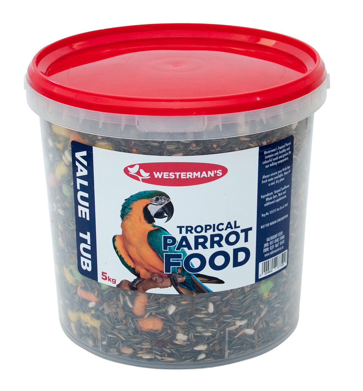 Tropical Parrot Food - Westermans -Value Tub - 5kg - Woofworths Premium Online Pet Supplies