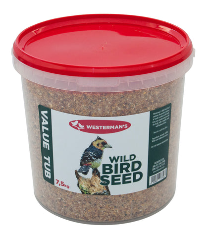 Wild Bird Seed - Value Tub - Westermans - 7.5kg - Woofworths Premium Online Pet Supplies