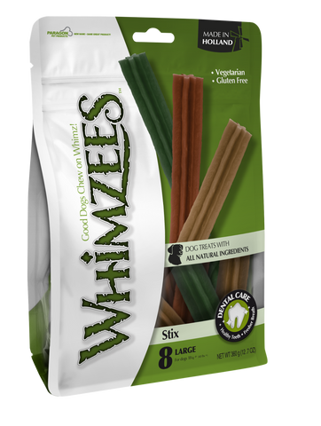 Whimzees - Stix - Assortment - 8 Pc Value Pack - Large - Woofworths Premium Online Pet Supplies