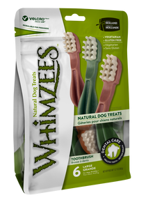 Whimzees - Toothbrush - Large - Value Pack - 6pc - Woofworths Premium Online Pet Supplies