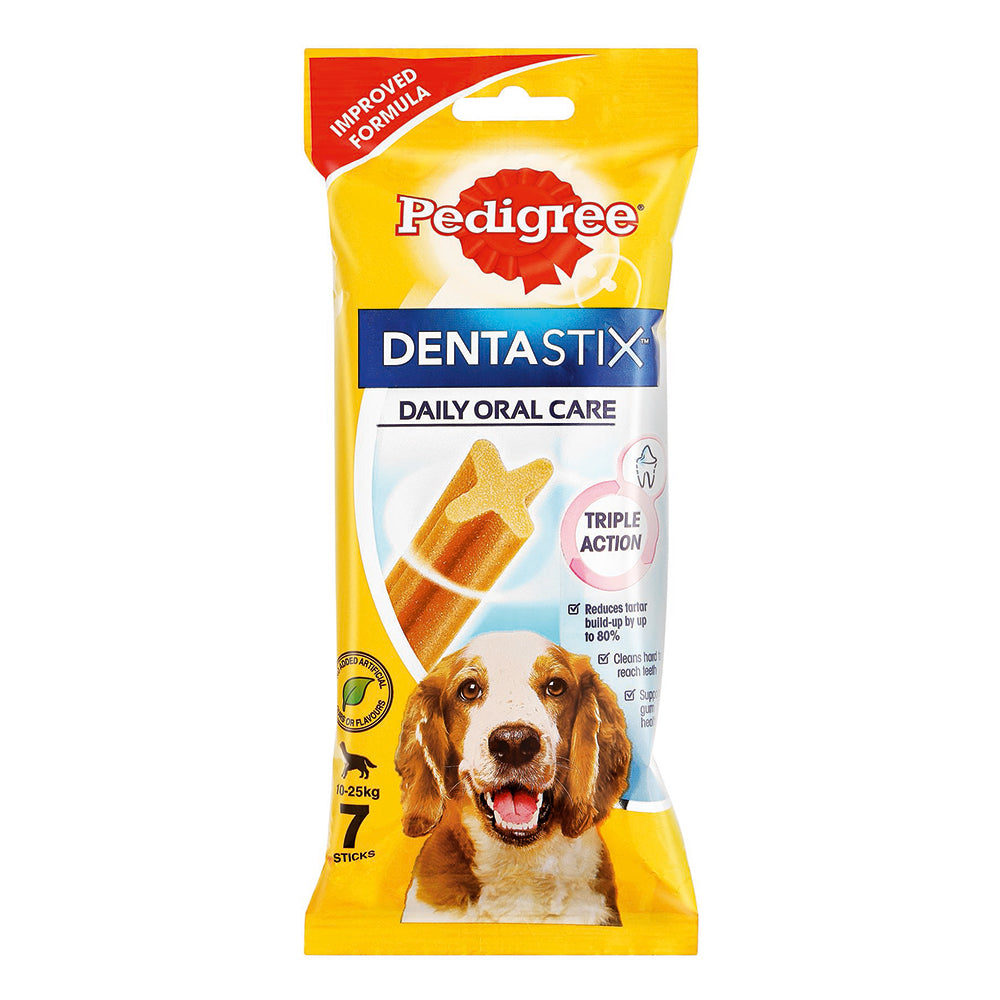 Pedigree -Denta Stix Medium (7pcs) 180g - Woofworths Premium Online Pet Supplies