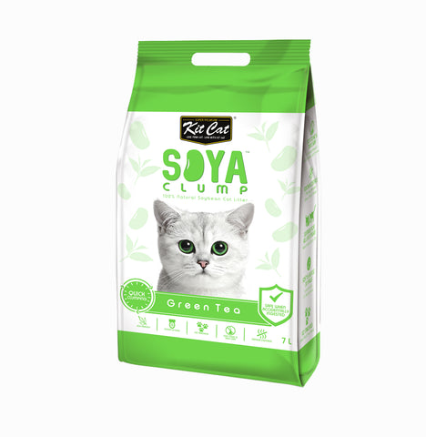 Kit Cat - Soya Clump Cat Litter - 2,8kg- Green Tea - Woofworths Premium Online Pet Supplies