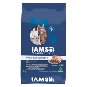 IAMS - Multicat Complete - With Salmon - Woofworths Premium Online Pet Supplies