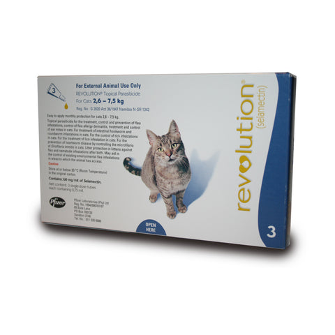 Revolution Cat - 2,6kg - 7,5kg - Blue - Woofworths Premium Online Pet Supplies