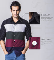 Patchwork Casual Chemise Men Shirt - Shappyr Supply