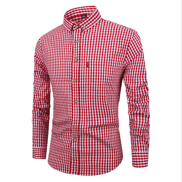 Long Sleeve Turn Down Collar Casual Shirt - Shappyr Supply