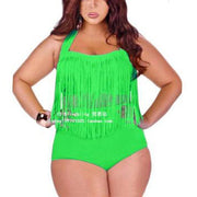 2020 Summer Bikini Set Women Tassel Sexy Halter Top Push Up Bikini Large Size Swimwear Plus Size 3XL Beach Biquini Swimsuit - Shappyr Supply
