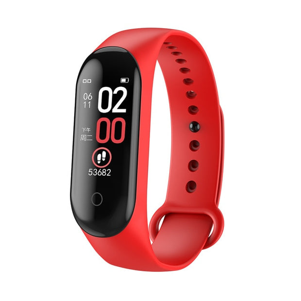 2020 Sport Running Pedometer M4 Smart Wristband Heart Rate Waterproof Touch Screen Bluetooth Fitness Tracker Pedometer - Shappyr Supply