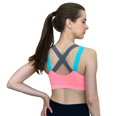 Push Up Cross Straps Sports Bra - Shappyr Supply