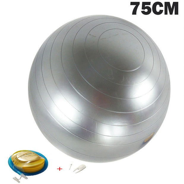 Yoga Balls Pilates Fitness Gym Balance Fitball Exercise Workout Ball 55/65/75/85CM with pump