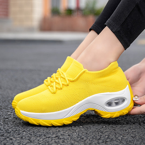 Platform Sneakers Women Breathable Casual Shoes - Shappyr Supply