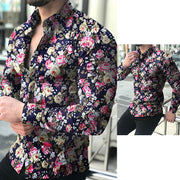 Mode Button Homme Floral Shirt - Shappyr Supply