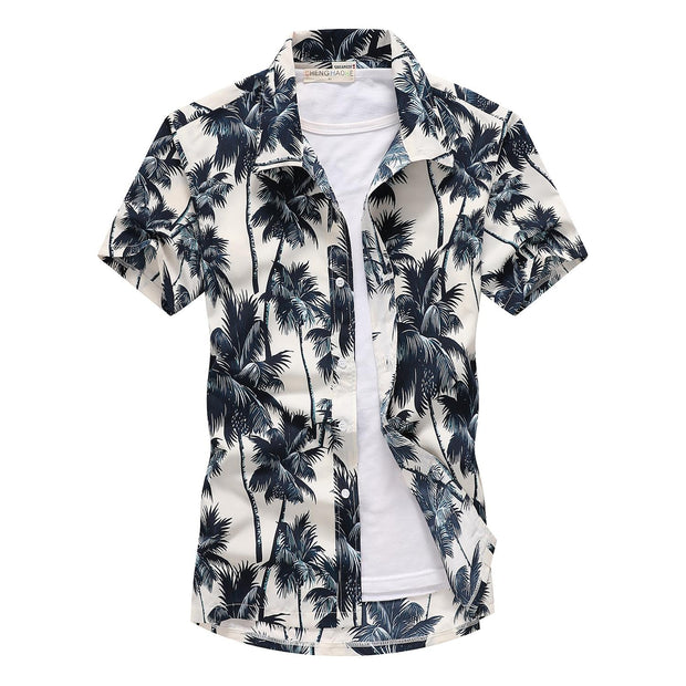 Fashion Mens Short Sleeve Hawaiian Shirt - Shappyr Supply