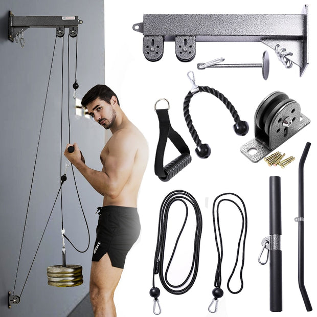 New Fitness DIY Pulley Cable Machine Home Gym Workout Equipmen Set - Shappyr Supply