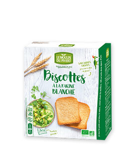 Biscottes blanches à l'huile d'olive - 270g
