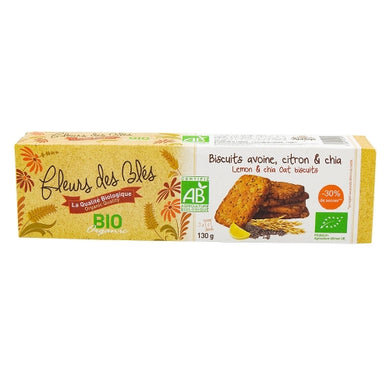 Biscuits avoine citron chia - 130g