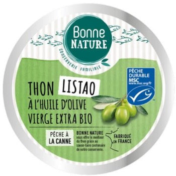 Thon listao huile d'olive vierge extra bio - 160g
