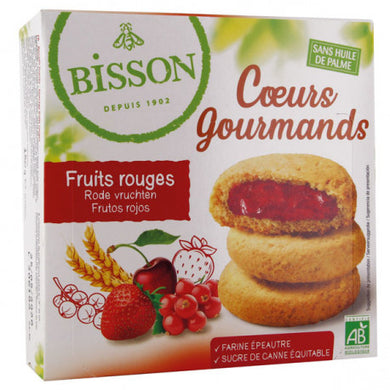 Coeurs gourmands fruits rouges