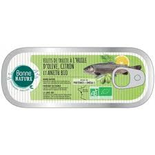 Filets de truite citron aneth bio - 115g