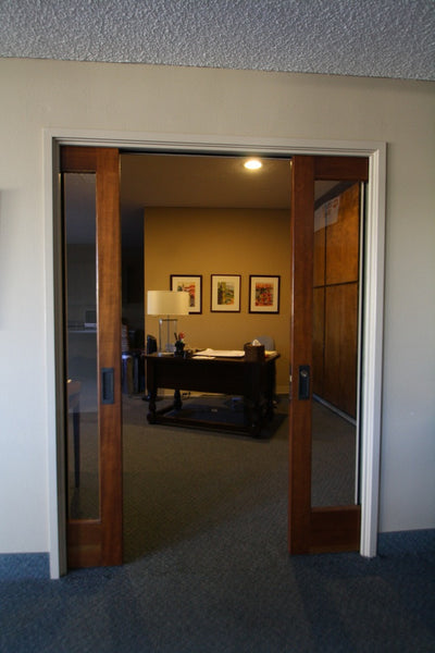 Perfect alignment pocket door