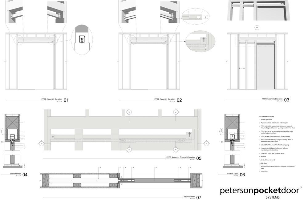 peterson pocket door drawing sheet