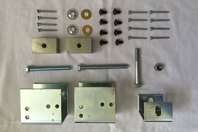 2x4 Wall Construction or Bigger Pocket Door Hardware Kit #2<br>Under 176 lbs