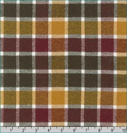 Mammoth Flannel - Cider Fabric Piece Fabric Co.