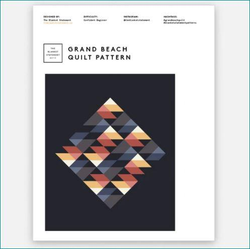 Grand Beach Quilt Pattern by The Blanket Statement