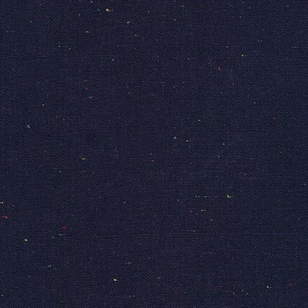 Essex Speckle Yarn-Dyed Linen/Cotton Blend - Navy