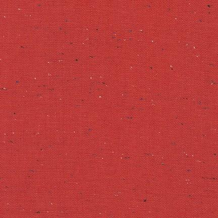 Essex Speckle Yarn-Dyed Linen/Cotton Blend - Red