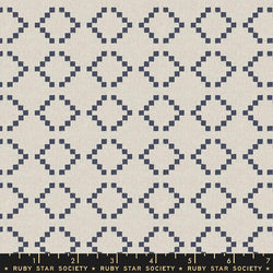 Warp & Weft - Navy Parade Fabric Piece Fabric Co.