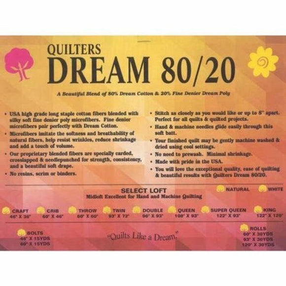 Quilters Dream 80/20 Select, 92