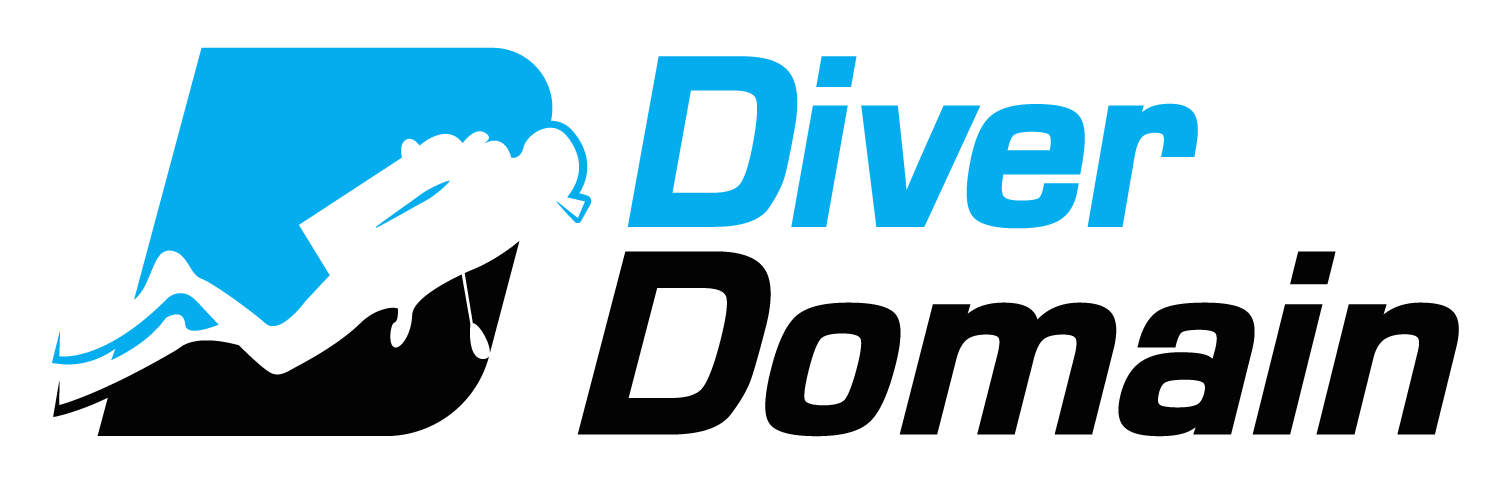 Diver Domain logo image | gifts for scuba divers, scuba diving apparel, diving clothes store