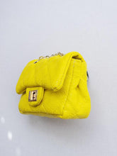 Load image into Gallery viewer, Girl's Yellow Quilted Mini Purse