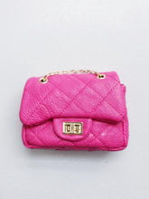 Load image into Gallery viewer, Girl's Fuchsia Quilted Mini Purse