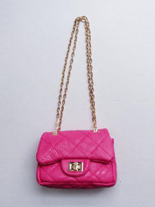 Girl's Fuchsia Quilted Mini Purse