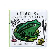 Load image into Gallery viewer, Wee Gallery Color Me Bath Book : Who's In the Pond