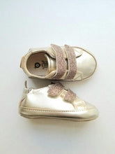Load image into Gallery viewer, Old Soles Baby Girl's Gold Sneakers